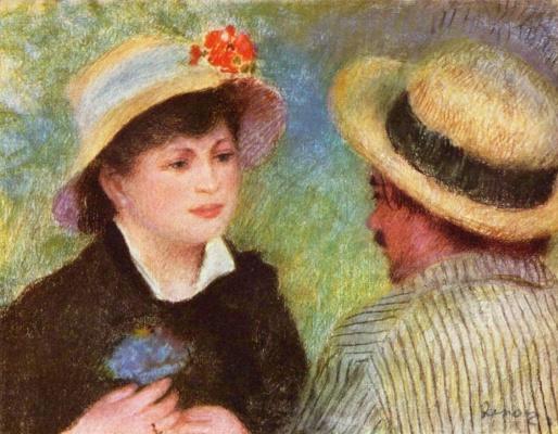 Pierre-Auguste Renoir. Straw hats ( Aline Charigot and Auguste Renoir)