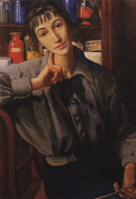 Zinaida Serebryakova. Self-portrait with brush