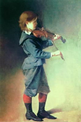Иван Кузьмич Макаров. Мальчик со скрипкой. Около 1886