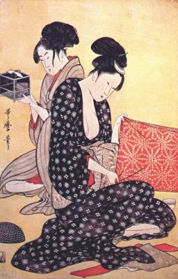 Kitagawa Utamaro. Women dresses