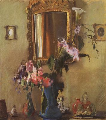 Constantin Somov. Still life: interior