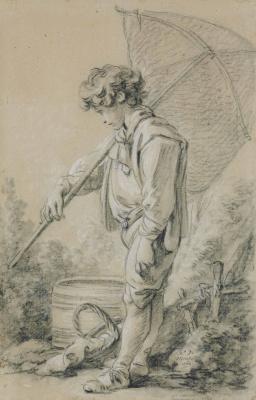 Francois Boucher. Boy holding net
