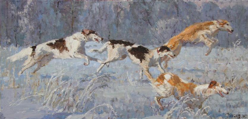 Diana V. Korobkina.. The hounds 2012 30 x 60 h. m