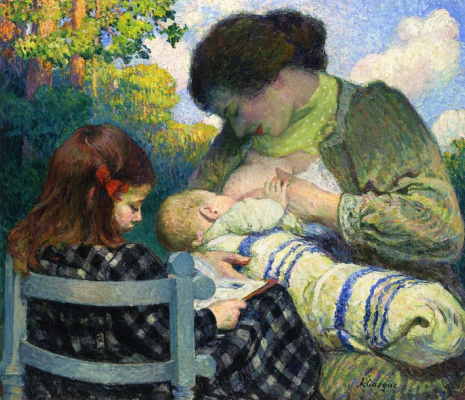 Henri Lebasque. Motherhood, Madame and her children.
