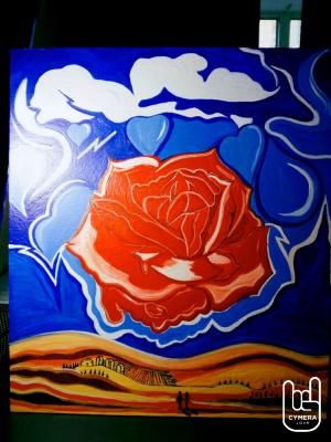 "Anton Bashkov. Salvador Dali ""Meditative rose"" remake №2 of the famous painting 2018"