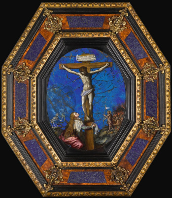 Alessandro Allori. Crucifixion with St. Mary Magdalene. Private collection