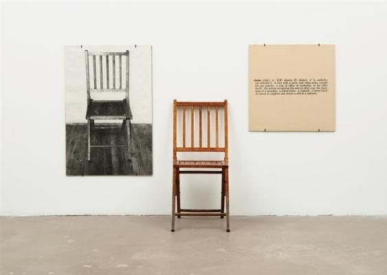 Joseph Kossuth. One and three chairs