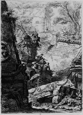 Giovanni Battista Piranesi. The first part of architecture and perspectives