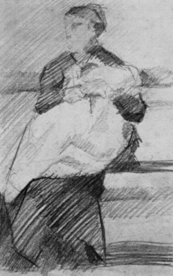 Georges Seurat. A woman with a child