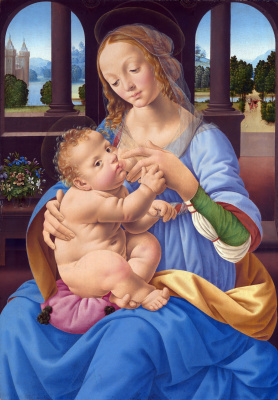 Lorenzo di Credi. Virgin with the baby