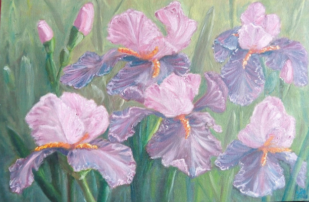 Nataly Yakubovskaya. Irises
