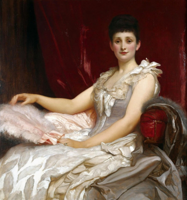Frederic Leighton. Portrait of Amy Augusta, Lady Coleridge