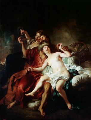 Жан Франсуа Де Труа. Лот с дочерьми