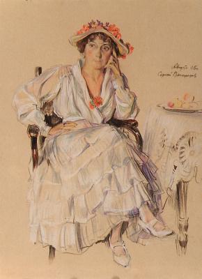 Sergey Arsenievich Vinogradov. The lady sitting in the chair