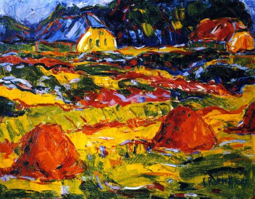 Karl Schmidt-Rottluff. Autumn landscape in Oldenburg