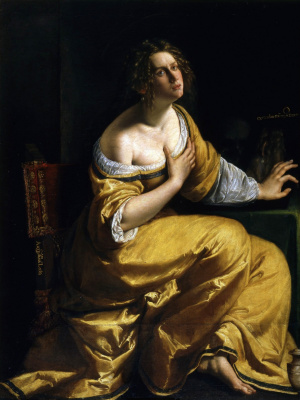 Artemisia Gentileschi. Self-portrait in the image of Mary Magdalene