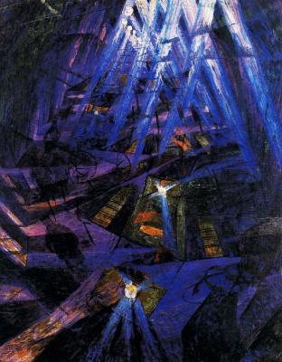 Umberto Boccioni. Force of the street