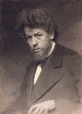 Николай Александрович Ярошенко. Портрет художника В. М. Максимова. 1878