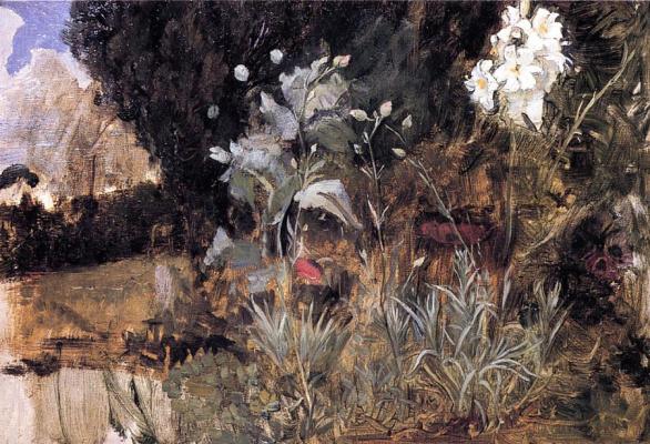 Джон Уильям Уотерхаус. Цветы очарованного сада. Этюд