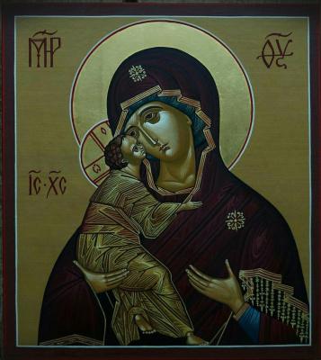 Andrey Vladimirovich Shapkin. Vladimir Icon of the Virgin Tenderness