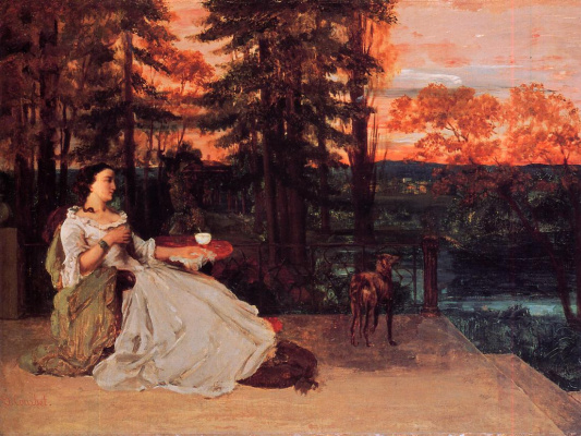 Gustave Courbet. Lady Frankfurt