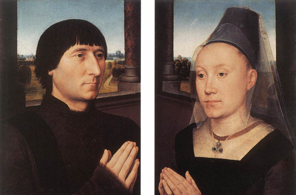Hans Memling. Portraits of Willem Morel and his wife