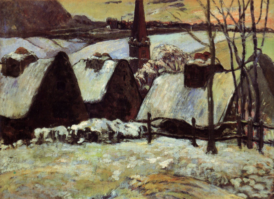 Paul Gauguin. Breton village in the snow