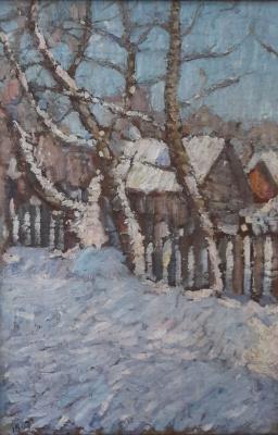 Robert Rafailovich Falk. Winter landscape in the Cover