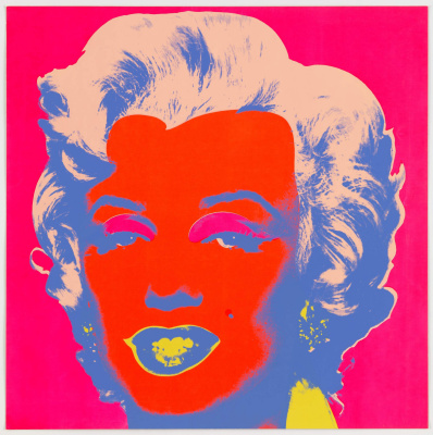 Andy Warhol. Monroe in red