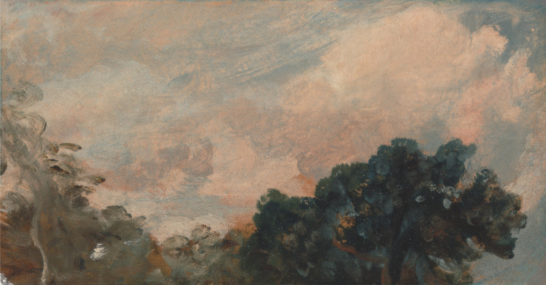 John Constable. Clouds over the trees. Etude
