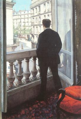 Гюстав Кайботт. Молодой мужчина у окна