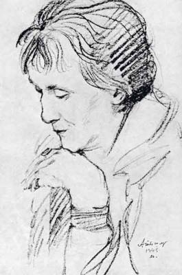 Alexander Grigoryevich Tyshler. Portrait Of A. A. Akhmatova