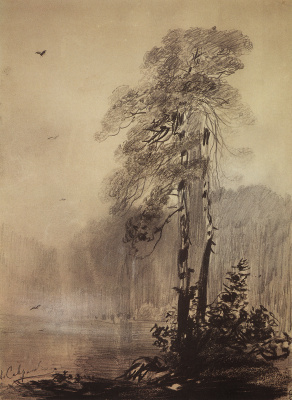 Alexey The Kondratyevich Savrasov. Pines on the lake