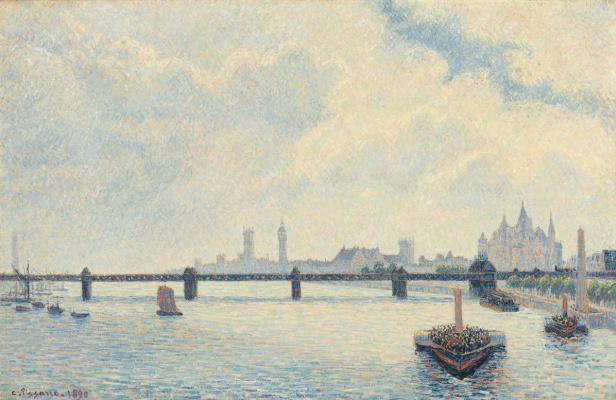 Камиль Писсарро. Мост Чаринг-кросс