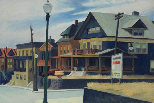 Edward Hopper. East Wind Over Weehawken