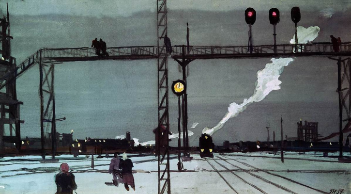 George Grigorievich Nyssa. On the tracks. Morning