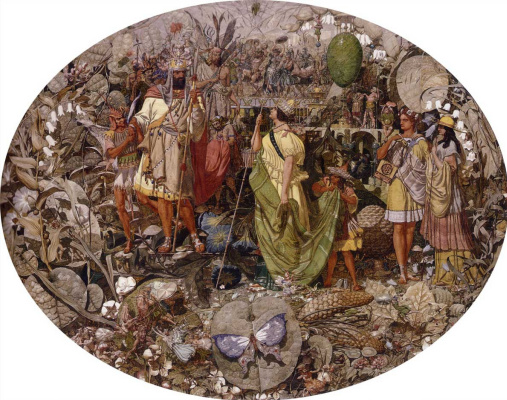 Ричард Дадд. Dispute: Oberon and Titania