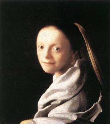 Jan Vermeer. Portrait of a young girl