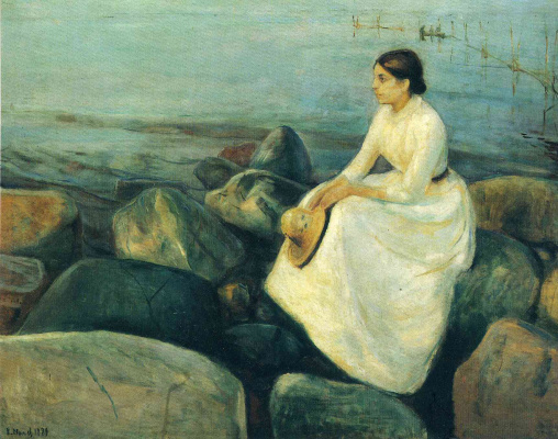 Edvard Munch. Summer night (Inger on the shore)