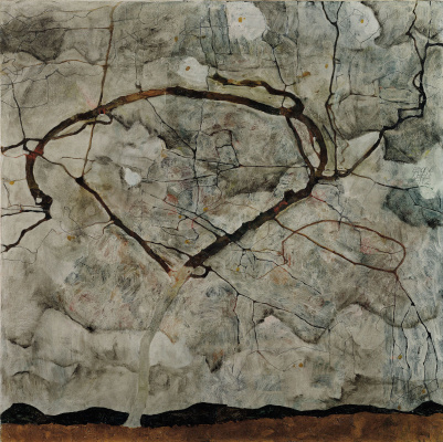 Egon Schiele. The tree in the autumn wind
