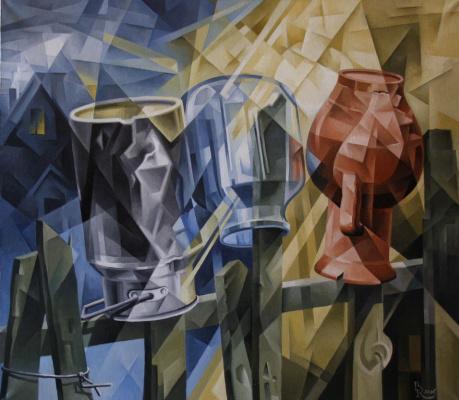Vasily Krotkov. Drying No. 4. Kubofuturizm