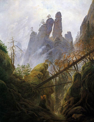 Caspar David Friedrich. Gorge