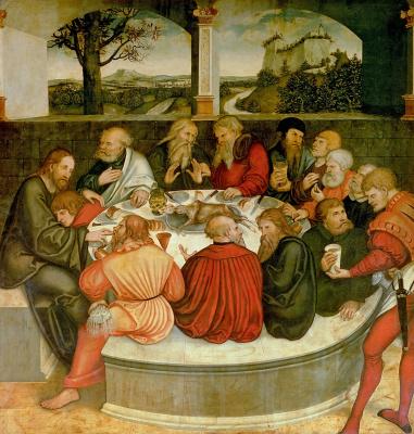 Лукас Кранах Младший 1515-1586. Алтарь. Тайная вечеря 1530-е   центр