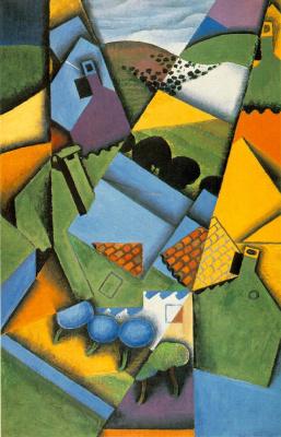 Хуан Грис. Пейзаж с домом в Сере