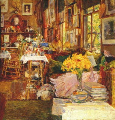 Childe Hassam. The Room of Flowers