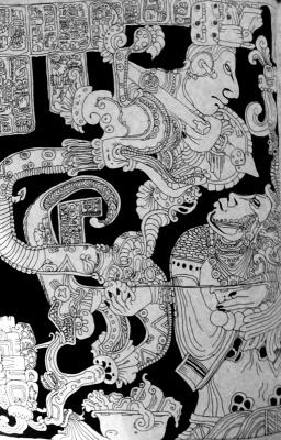 Svetlana Makarova. Illustration from the bas-relief Mayan