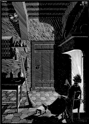 """Maurits Cornelis Escher. Illustration for the book """"The Terrible Adventures of Scholasticism"""""""