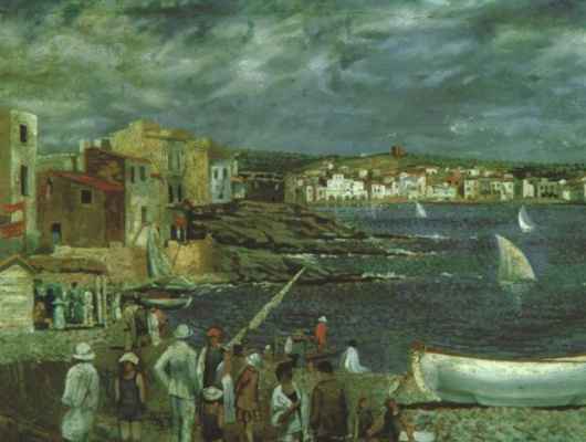 Salvador Dali. The beach in cadaqués