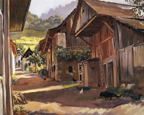 Zinaida Yevgenyevna Serebriakova. Alps. Village in the Savoie