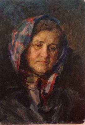 """Константин Мефодьевич Максимов. """"Пожилая женщина в платке"""""""